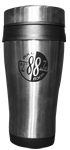 WJCU travel tumbler mug close-up